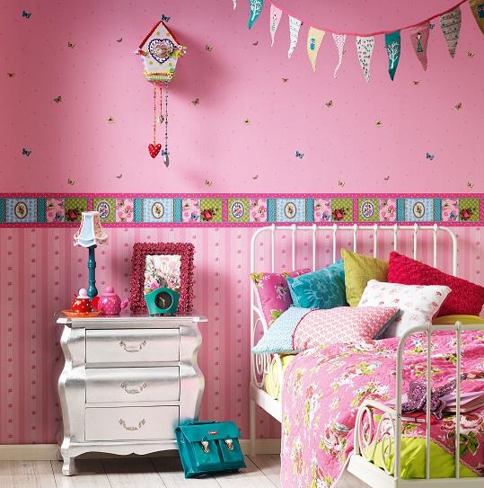 Abwaschbare Tapete F?r Kinderzimmer : Dekorieren: Fr?hliche Tapeten f?r Kinderzimmer, K?che, Esszimmer