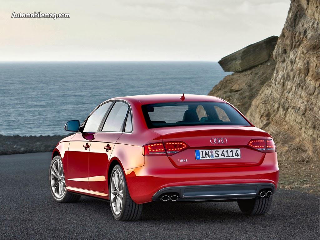 2014 Audi S4 Back View Wallpaper