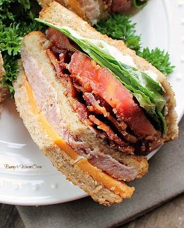 Ham and Cheese Club Sandwich