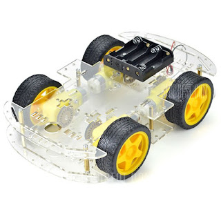 $16.89 Arduino Compatible DIY Motor Smart Robot Car Chassis Kit 4 WD-16.89 and Free Shipping| GearBest.com