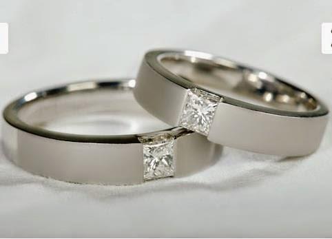 cincin kawin emas putih polos