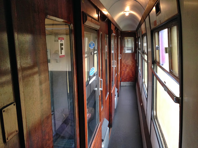 Traditional train compartments for the Hogwart's Express on the Jacobite Steam Train