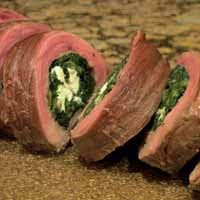 Weight Loss Recipes : Spinach Steak Roulade