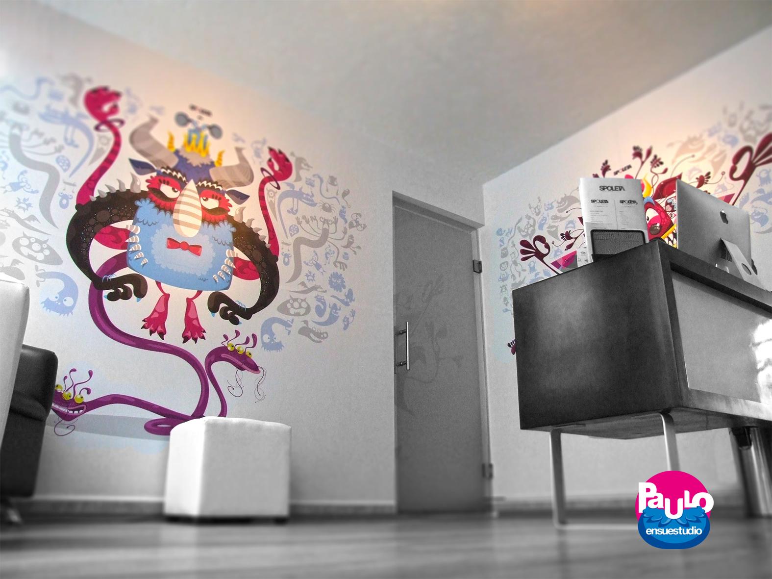 Paulo en su estudio decorando spoleta agencia de publicidad for Agencia de publicidad