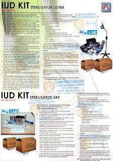 iud kit listrik,iud kit non listrik,iud kit sterilisator uap