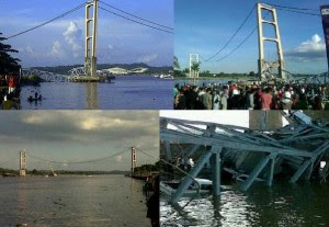 Jembatan Kutai Kartanegara Tenggarong Telah Tiada Runtuh