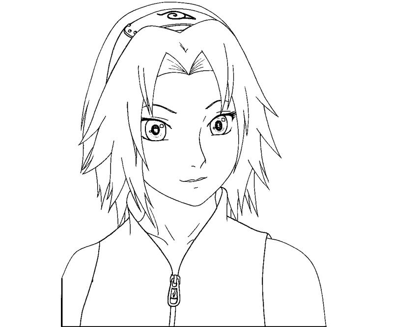 sakura haruno coloring pages - photo#13