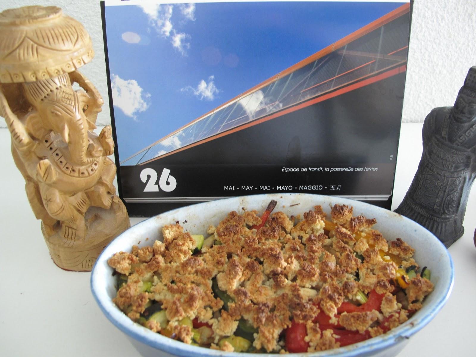 Gourmandises homecooked plat crumble poulet r ti et poivrons - Cuisiner un poulet roti ...