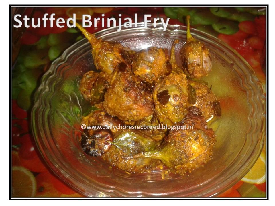 Stuffed Brinjal Fry