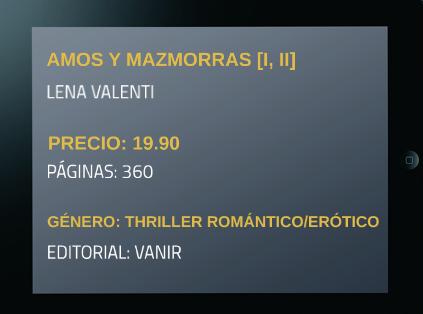 Reseña: Amos y Mazmorras [I,II] Lena Valenti