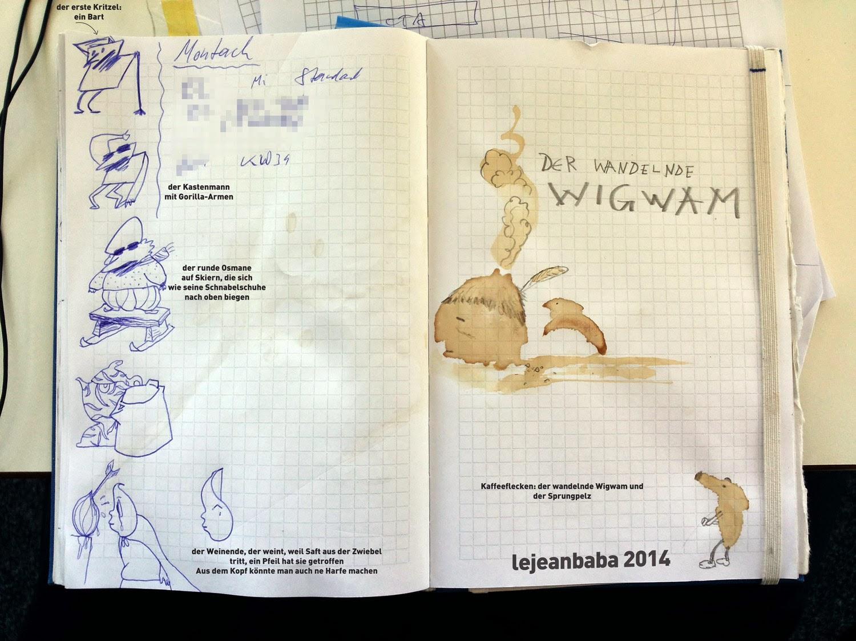 #kreativnotiz Kaffeefleck: Der wandelnde Wigwam