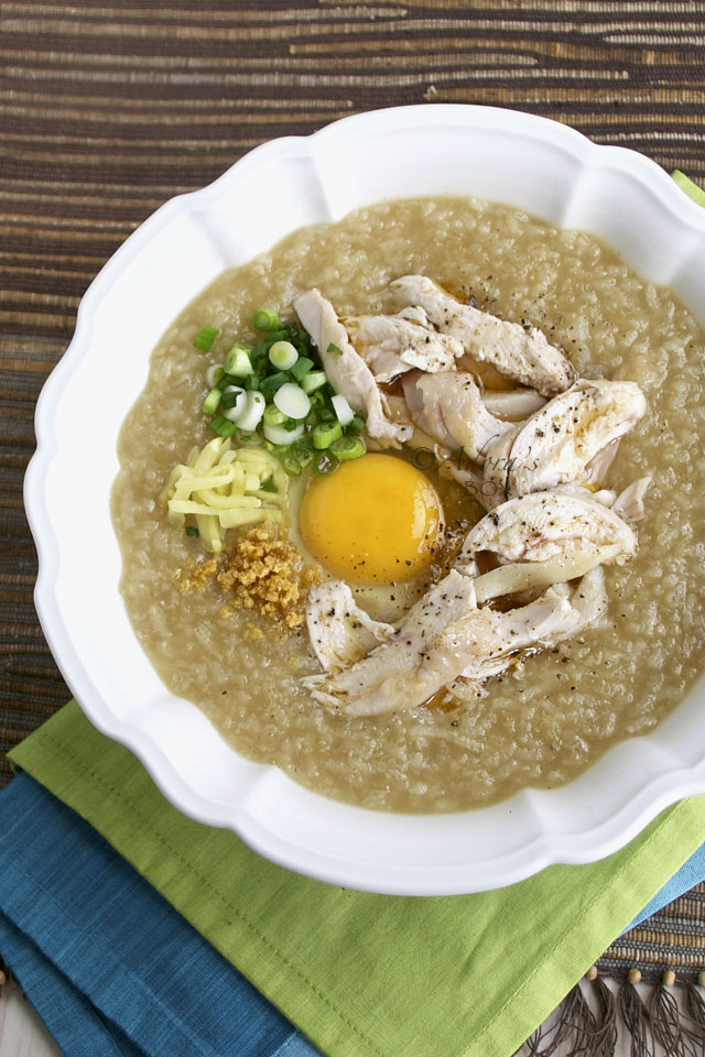 how to cook chicken arroz caldo filipino style