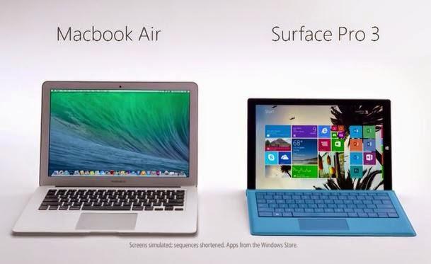 Apple | MacBook Air | Microsoft | Surface | Surface Pro 3 | Windows | Tablet | Laptop | Ultrabook | Ultraportable
