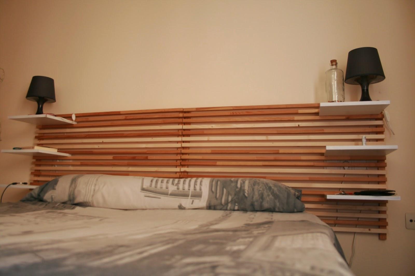 Cabecero cama de matrimonio reciclado diyambo blog - Cabezales de cama caseros ...