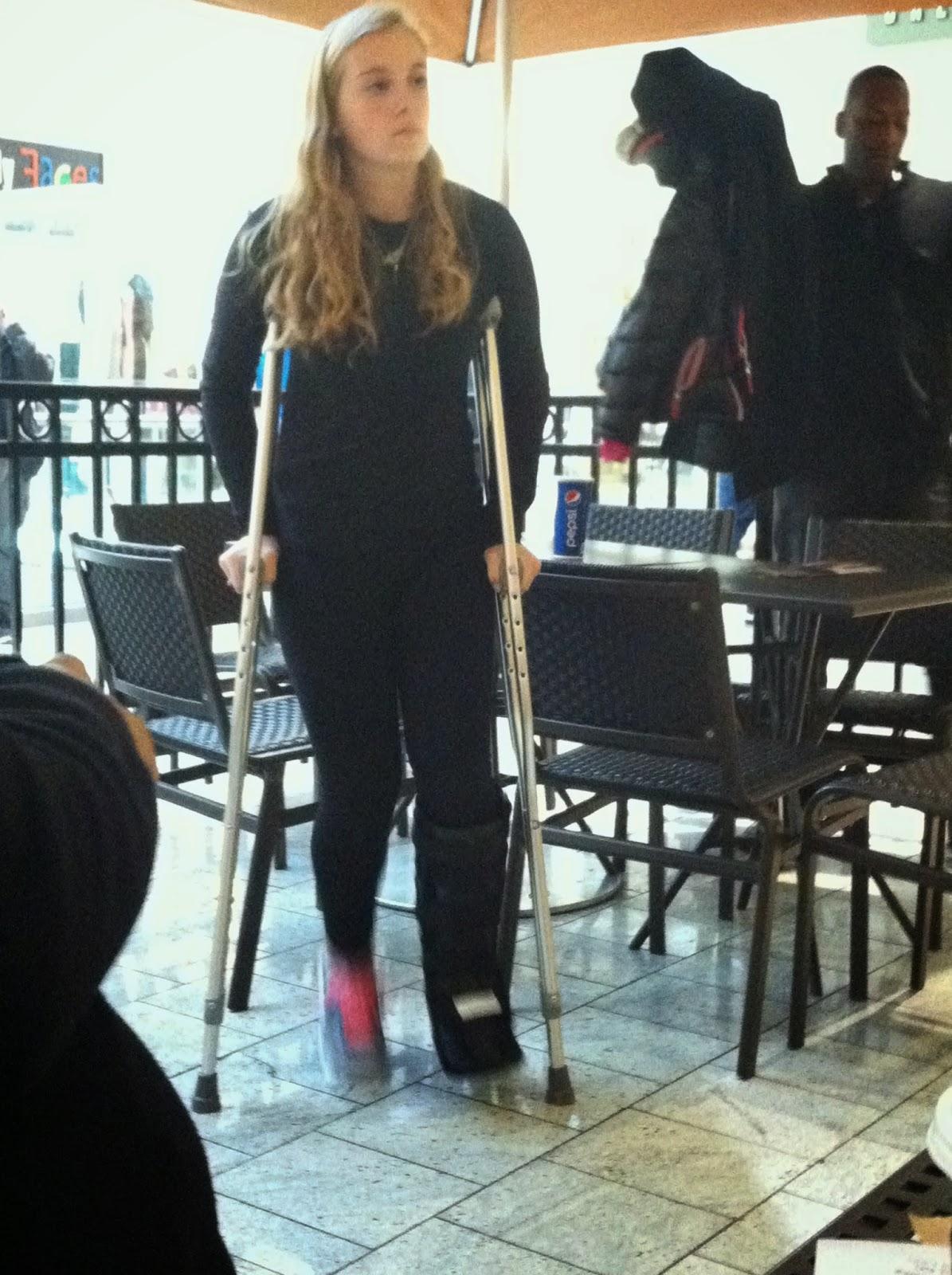 Hot girl slc crutching - 1 part 1