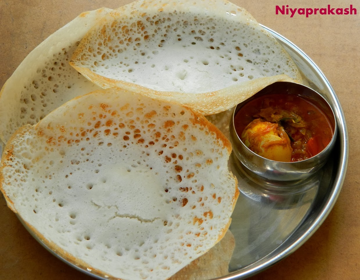 Niya 39 s world appam with kerala egg curry for Appam and chicken stew kerala cuisine