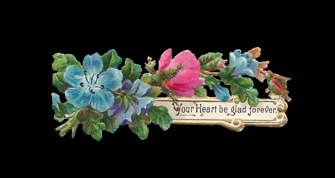 Antique Images: Free Digital Flower Label Design: Printable Blue ...