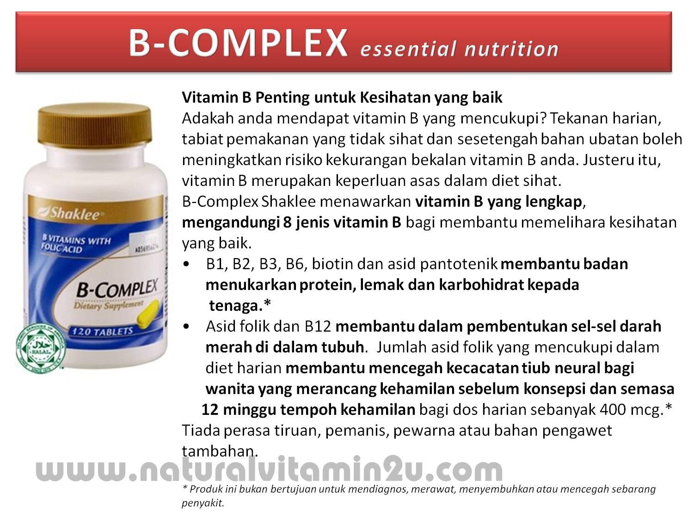 Vitamin b Complex Shaklee