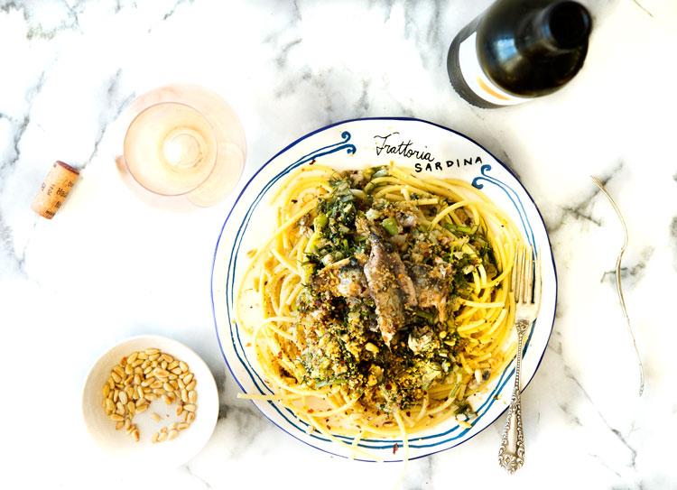 Wild Greens and Sardines : Pasta con le Sarde (Pasta with Sardines)