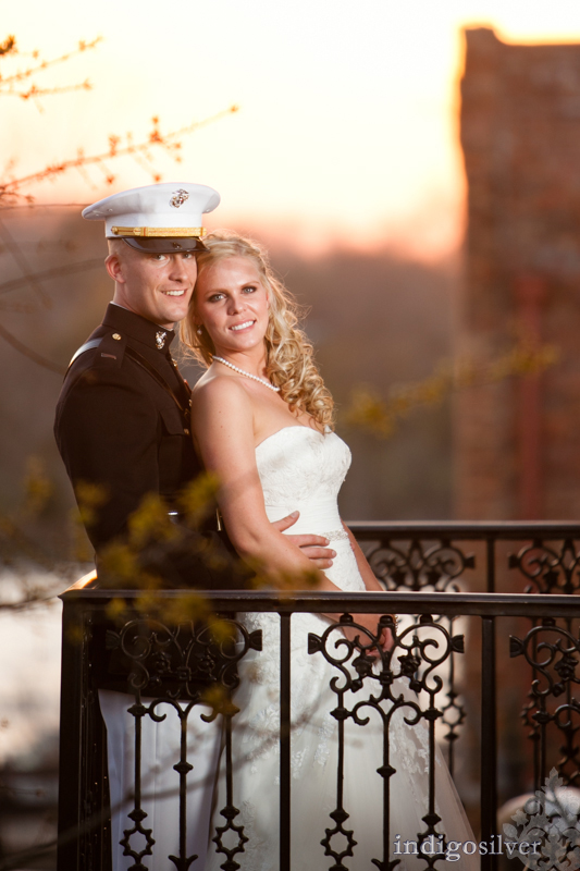 military wedding at balcony on dock   wilmington wedding photographers