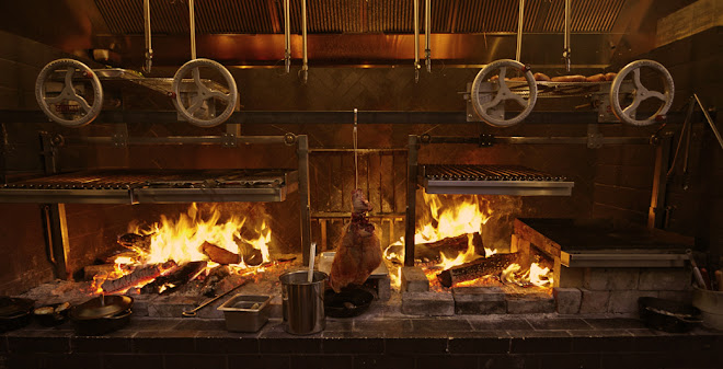 Wood fired cooking and grilling at TBD Restaurant in San Francisco