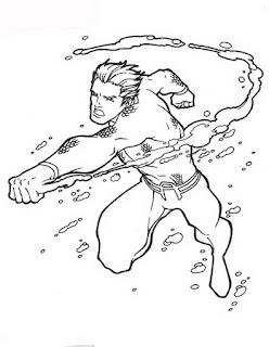 Cartoon Coloring Pages Sheets Aquaman Coloring Pages