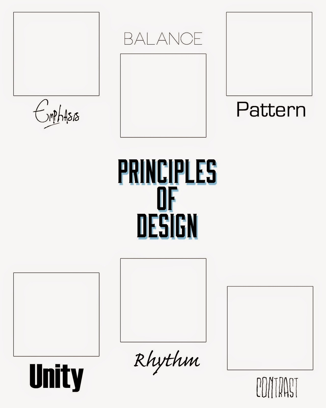 Visual design elements and principles