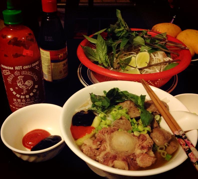 Pho Bo Vien (Vietnamese Beef Ball Rice Noodles Soup)