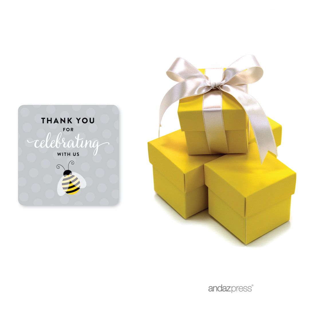 Andaz Press Mama To Bee Bumblebee Gender Neutral Baby Shower Collection Fancy Frame Label Stickers Thank You Youre Sweet As Honey 36 Pack