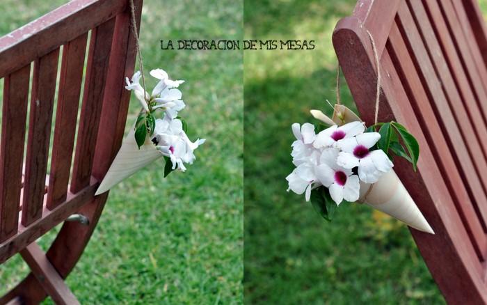 Decorar sillas o bancos con flores for Sillas para novios en la iglesia