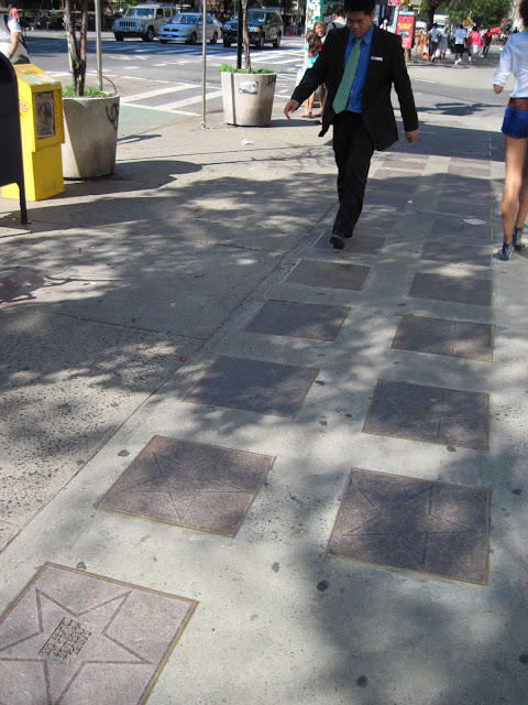 Foot traffic has eroded the names along the Yiddish Theater Walk of Fame an old new york landmark