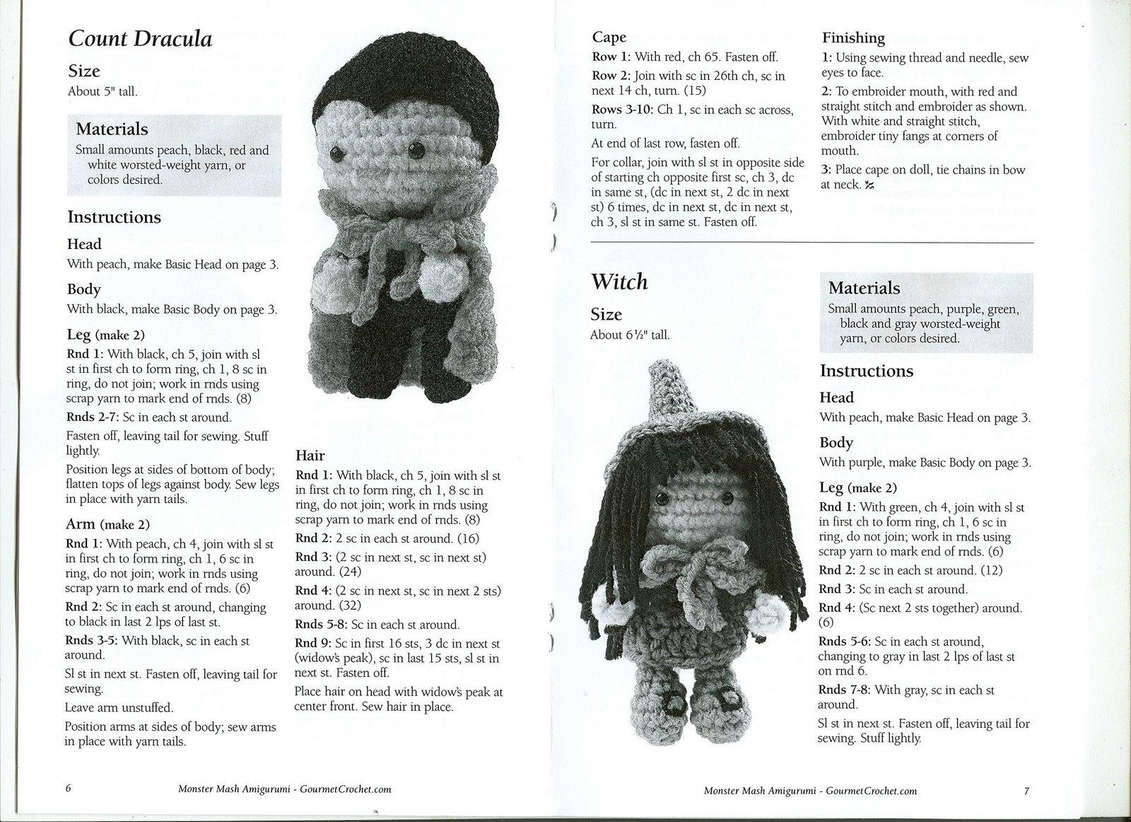 Amigurumi Halloween Patrones : Vallegurumi: Monstruitos en amigurumi