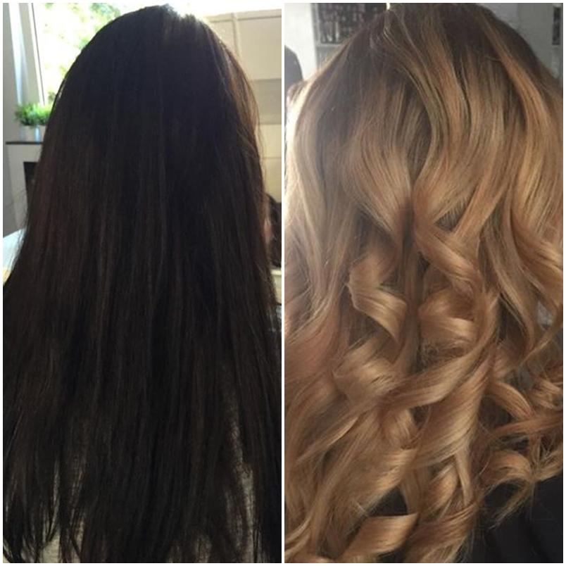 Blond gefarbte haare hellbraun farben