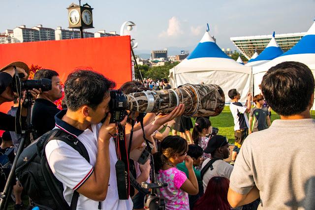 Giant Camera Lens