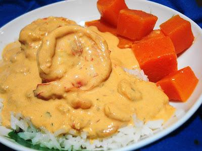 camarão com moranga