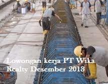 Lowongan kerja PT Wika Realty Tingkat D3 dan S1 Desember 2013