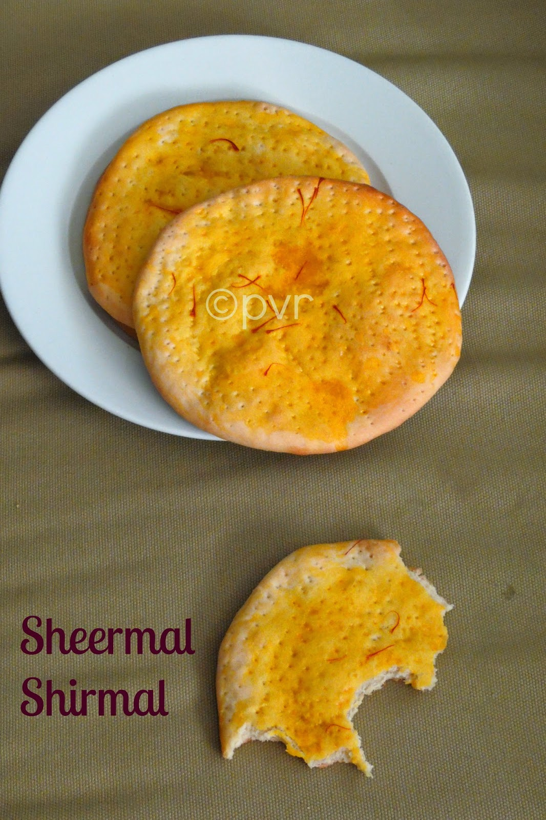 Sheermal, Shirmal, Saffron flatbread