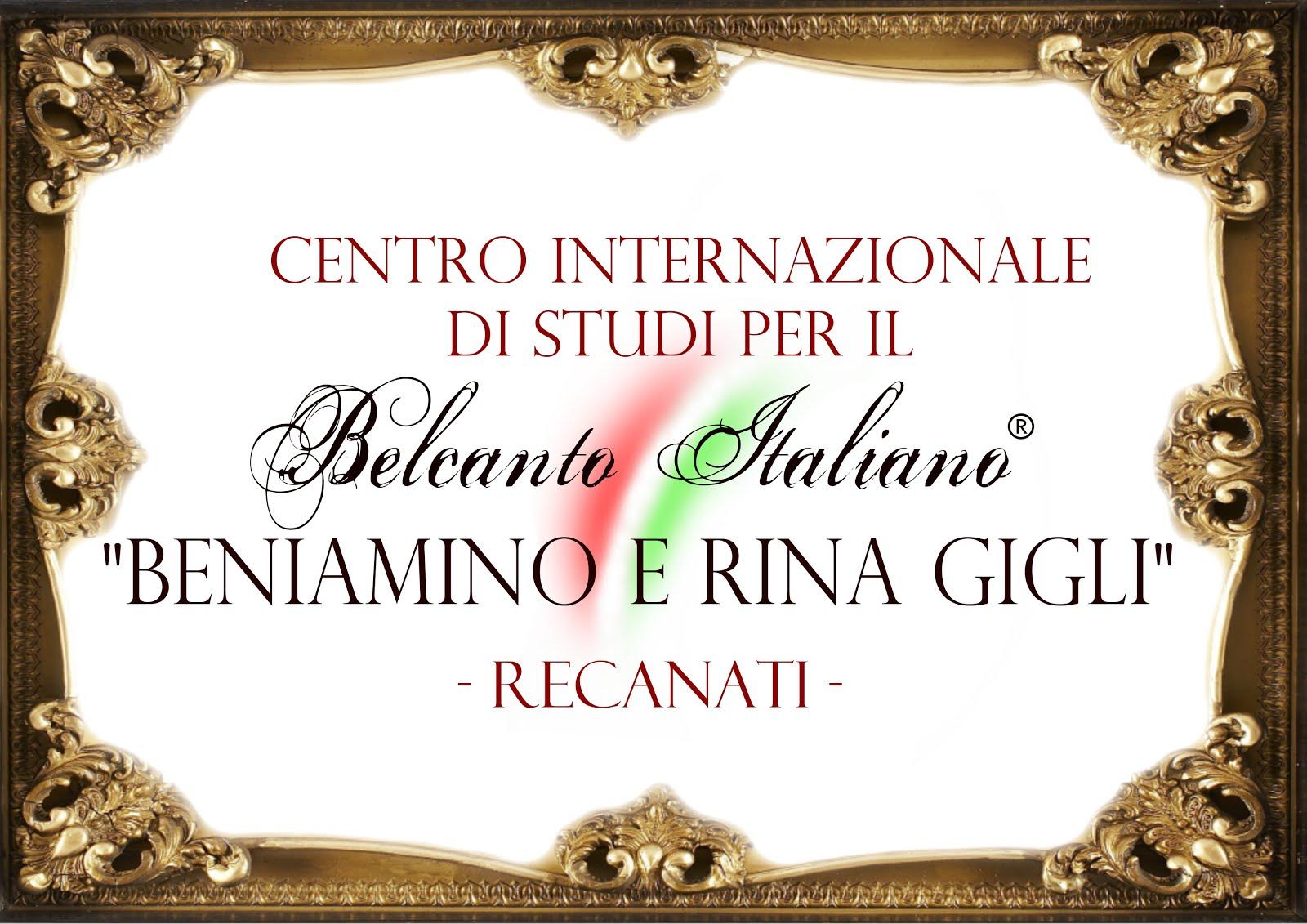 """Centro Internazionale di Studi per il Belcanto Italiano  ® """"Beniamino e Rina Gigli"""" - Recanati"""