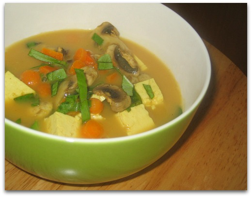 vegan thai tofu vegetable curry soup