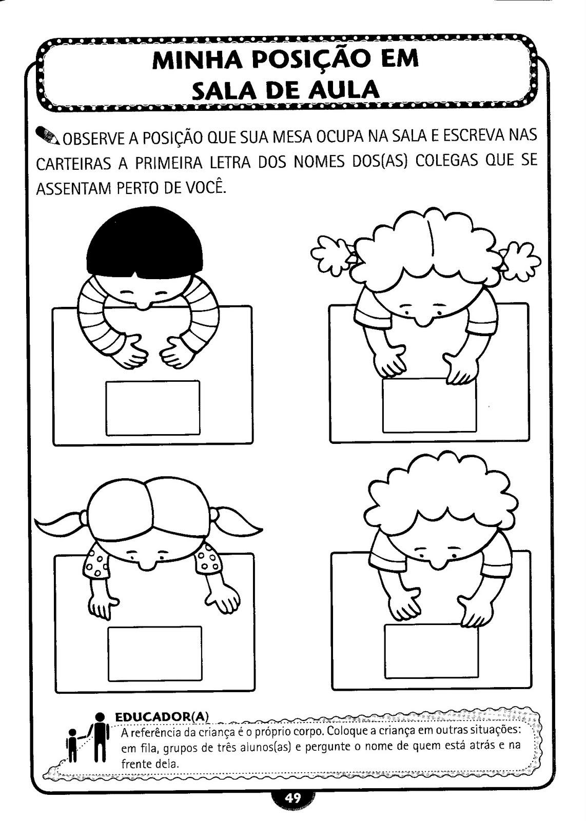 Atividades para o primeiro dia de aula 3