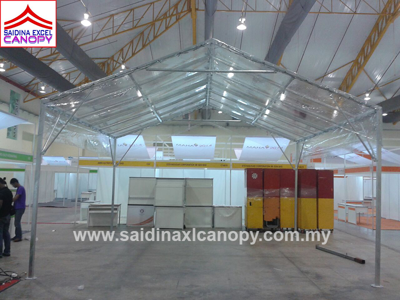 Custom made canopy - Mini Transparent Marquee Tent / A-shape