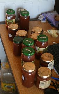 Lots of jam jars
