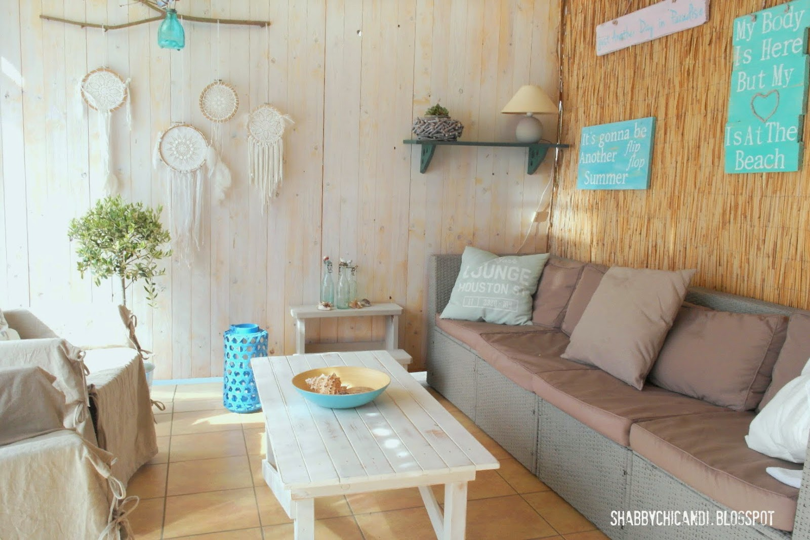 Shabby chic and i shabby chic diy und deko beach cottage ein blick auf meine terrasse - Gartendeko shabby ...