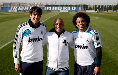 Kaka, Roberto Carlos and Marcelo