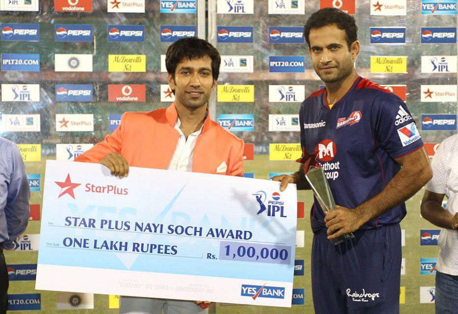 Irfan-Pathan-Star-Plus-Nayi-Soch-Award-DD-vs-KKR-IPL-2013