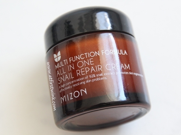 Mizon All in one snail repair cream jar
