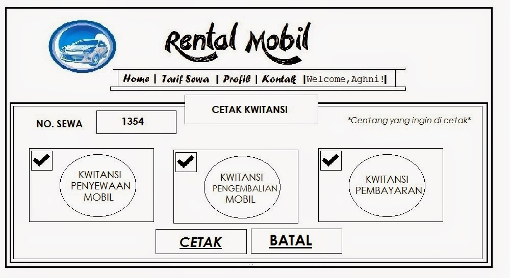 Contoh Invoice Sewa Mobil Contoh Web 0