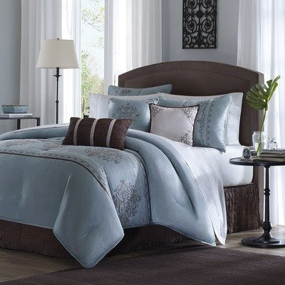 Blue and brown bed sets home decorating ideas for Chocolate brown and blue bedroom ideas