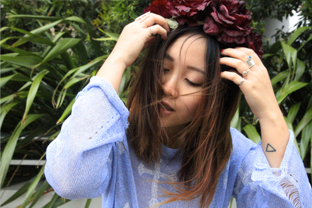 K is for Kani flower crown on epique