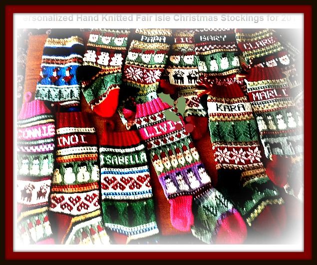 Mulberry Creek: Personalized Hand Knitted Christmas Stockings